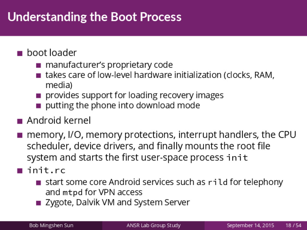 Understanding the Boot Process boot loader manu...