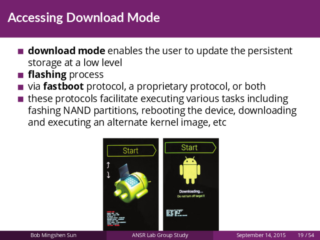 Accessing Download Mode download mode enables t...