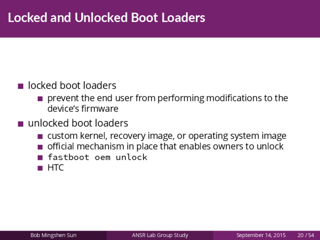 Locked and Unlocked Boot Loaders locked boot lo...