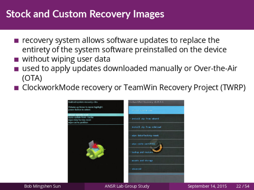 Stock and Custom Recovery Images recovery syste...