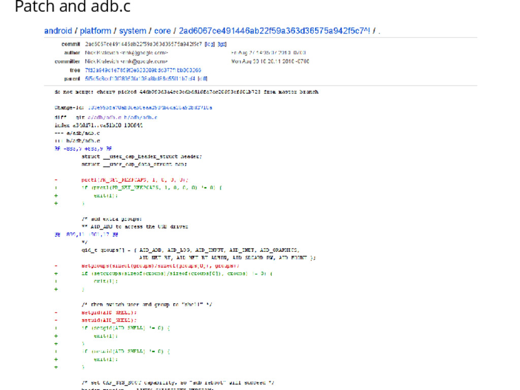 Patch and adb.c