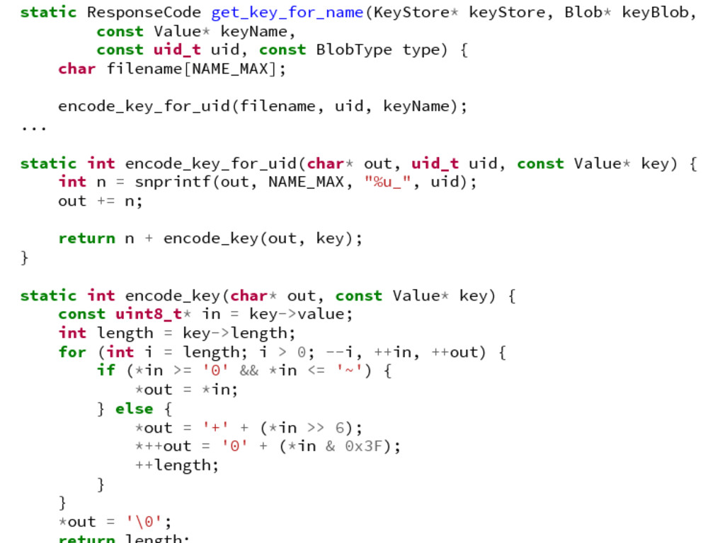 static ResponseCode get_key_for_name(KeyStore* ...