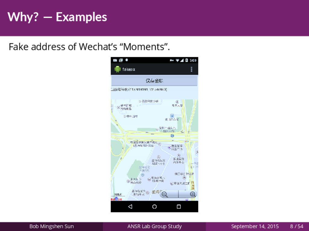 "Why? — Examples Fake address of Wechat's ""Momen..."