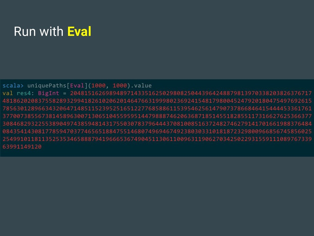 Run with Eval