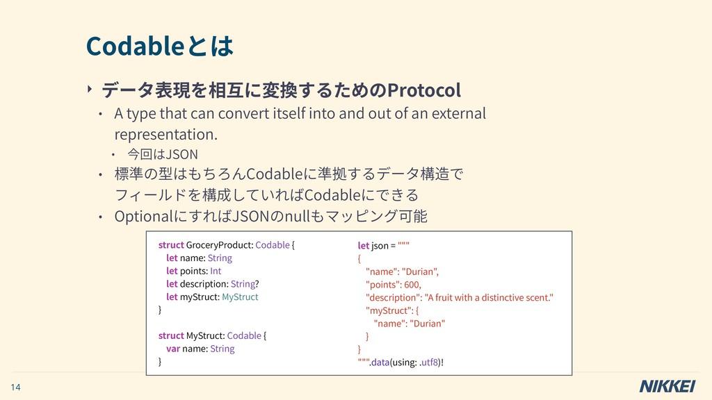 ‣ データ表現を相互に変換するためのProtocol • A type that can co...