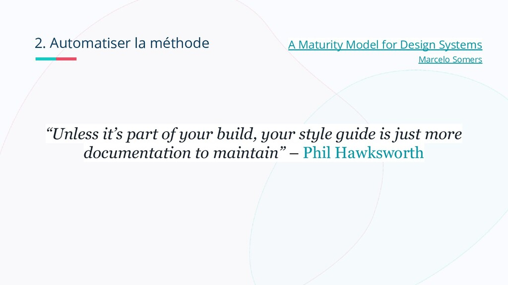 2. Automatiser la méthode A Maturity Model for ...