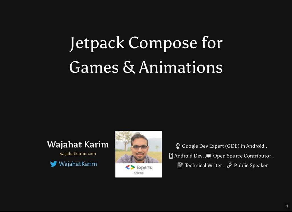 Jetpack Compose for Games & Animations Wajahat ...