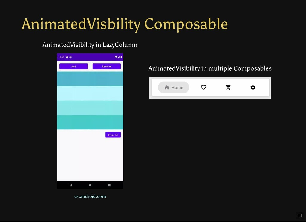 AnimatedVisbility Composable cs.android.com Ani...