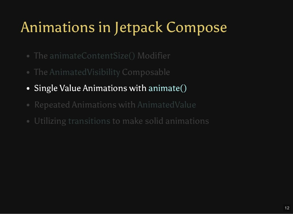 Animations in Jetpack Compose Single Value Anim...