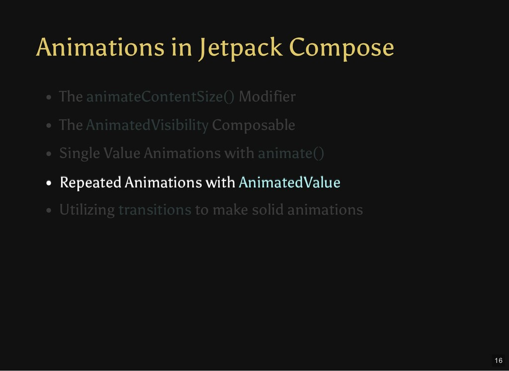 Animations in Jetpack Compose Repeated Animatio...