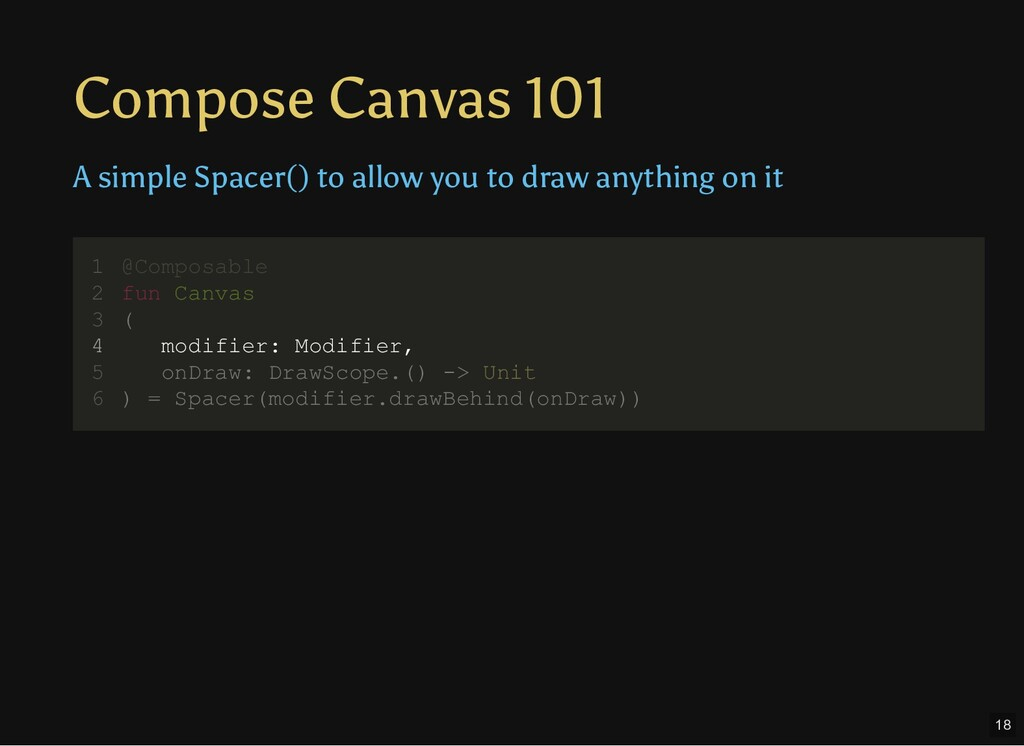 Compose Canvas 101 A simple Spacer() to allow y...