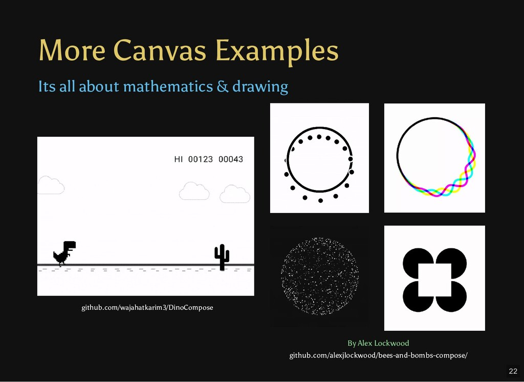 More Canvas Examples Its all about mathematics ...