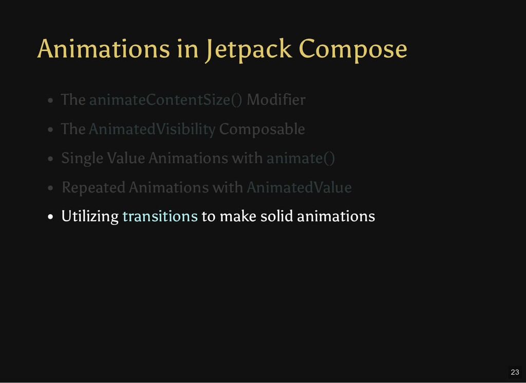Animations in Jetpack Compose Utilizing transit...
