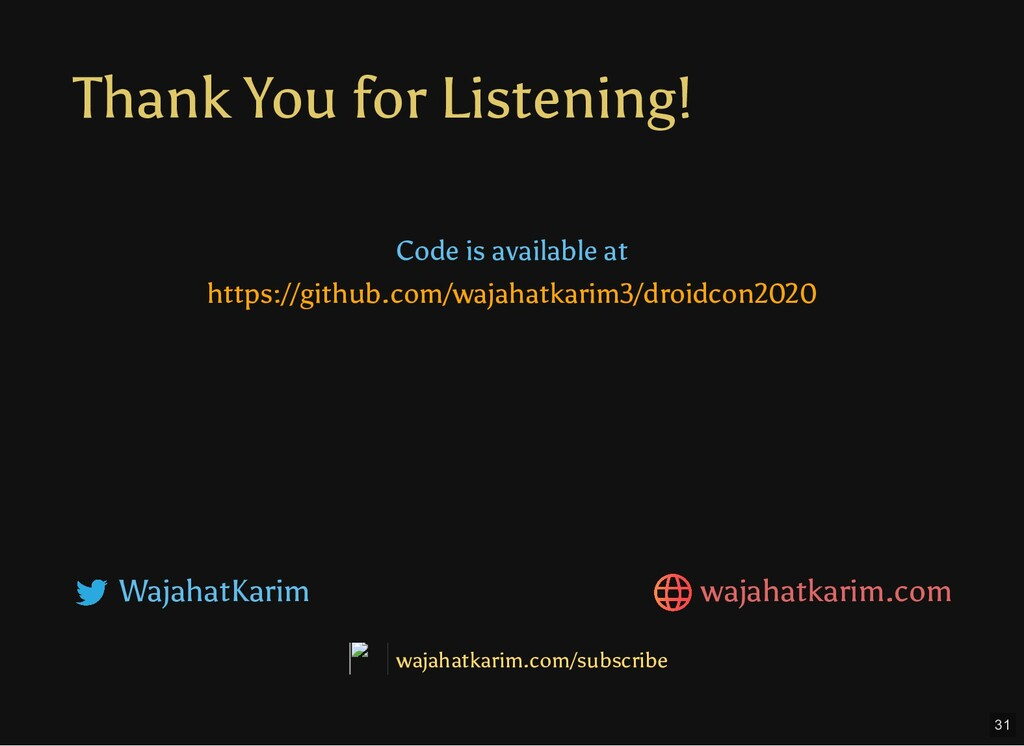 Thank You for Listening! Code is available at h...
