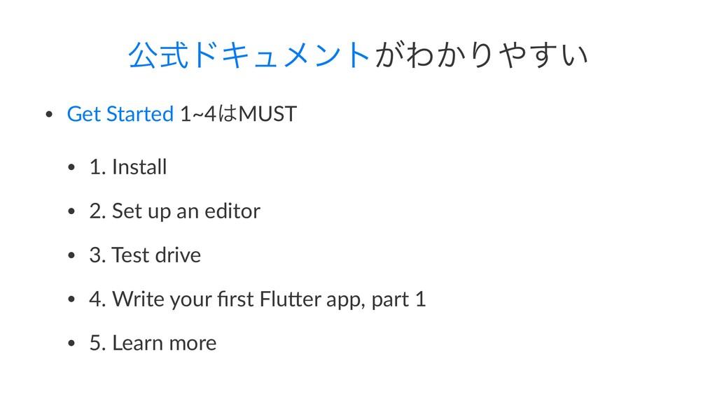 ެࣜυΩϡϝϯτ͕Θ͔Γ͍͢ • Get Started 1~4MUST • 1. Ins...