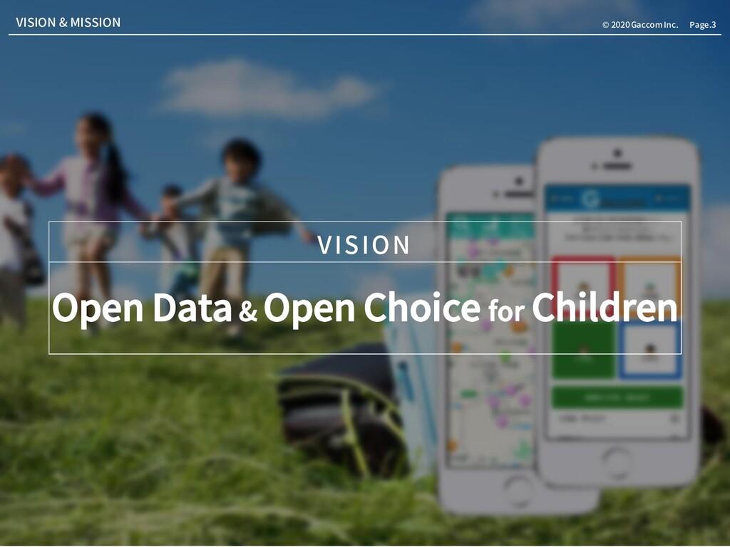 Page.3 © 2020 Gaccom Inc. Open Data & Open Choi...