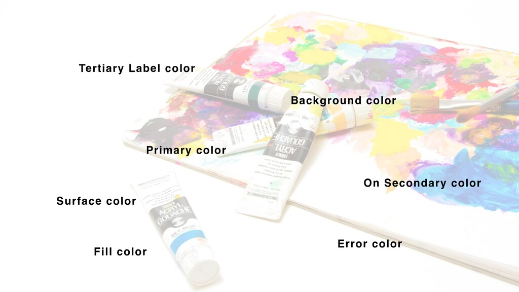 Tertiary Label color Primary color Background c...