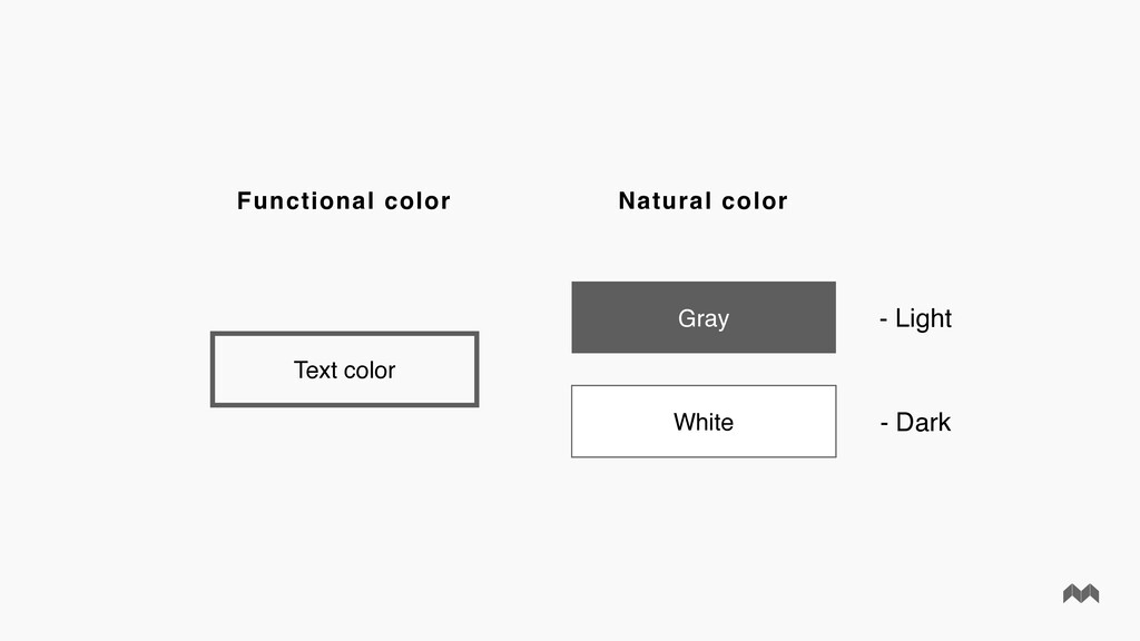 Functional color Natural color Text color Gray ...