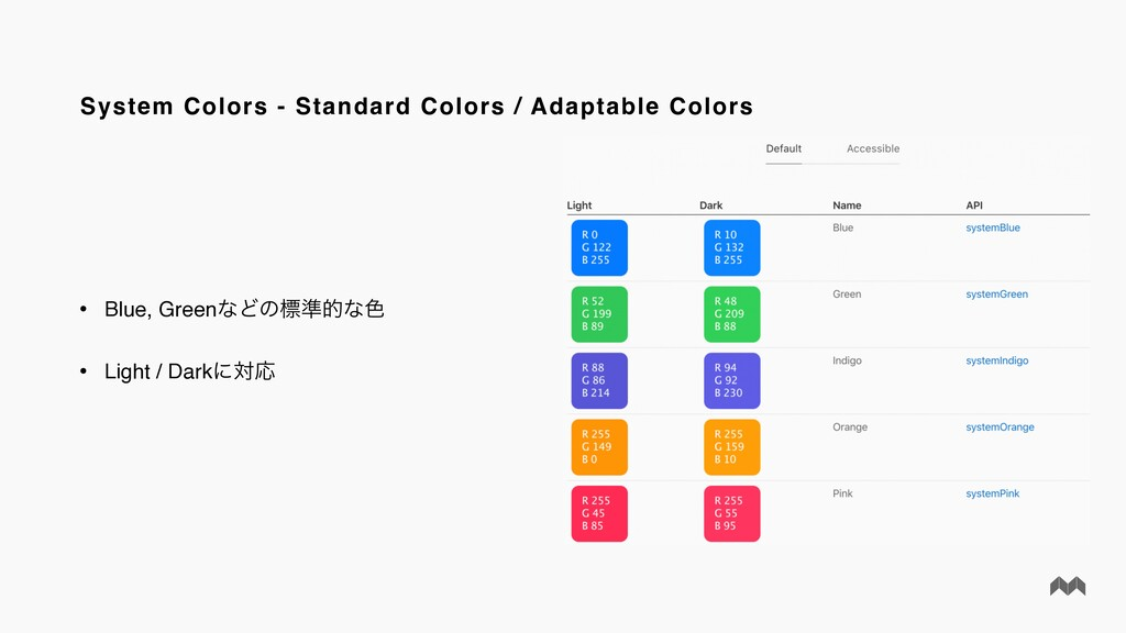 System Colors - Standard Colors / Adaptable Col...