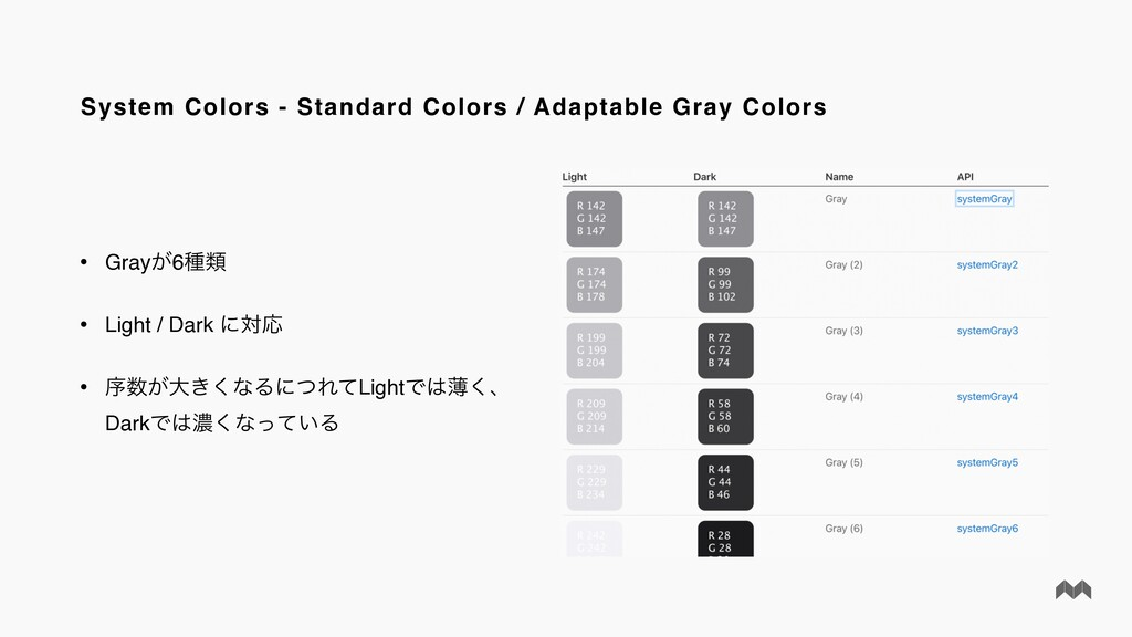 System Colors - Standard Colors / Adaptable Gra...