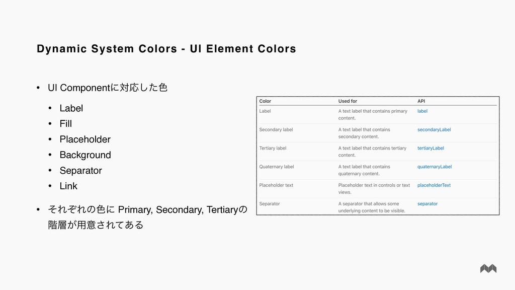 Dynamic System Colors - UI Element Colors • UI ...