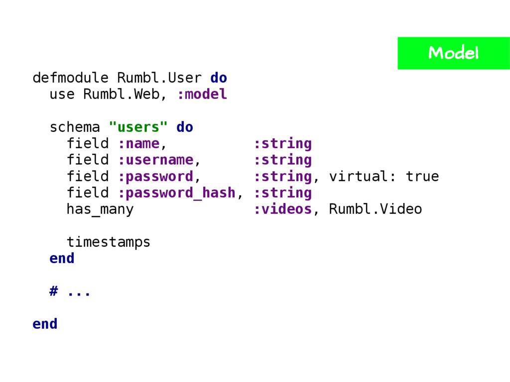 defmodule Rumbl.User do use Rumbl.Web, :model s...