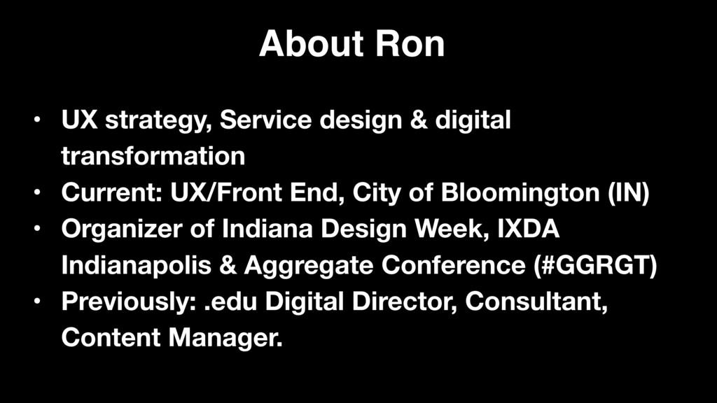 • UX strategy, Service design & digital transfo...