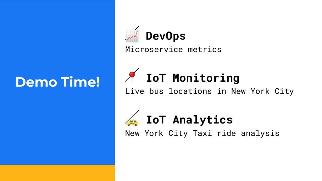 Demo Time!  DevOps Microservice metrics  IoT Mo...