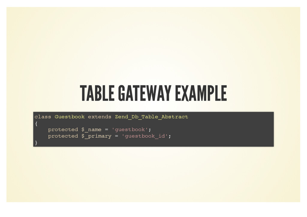TABLE GATEWAY EXAMPLE TABLE GATEWAY EXAMPLE cla...