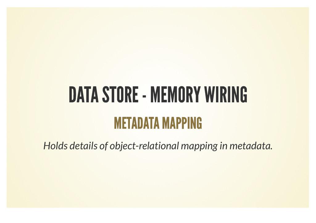 DATA STORE - MEMORY WIRING DATA STORE - MEMORY ...