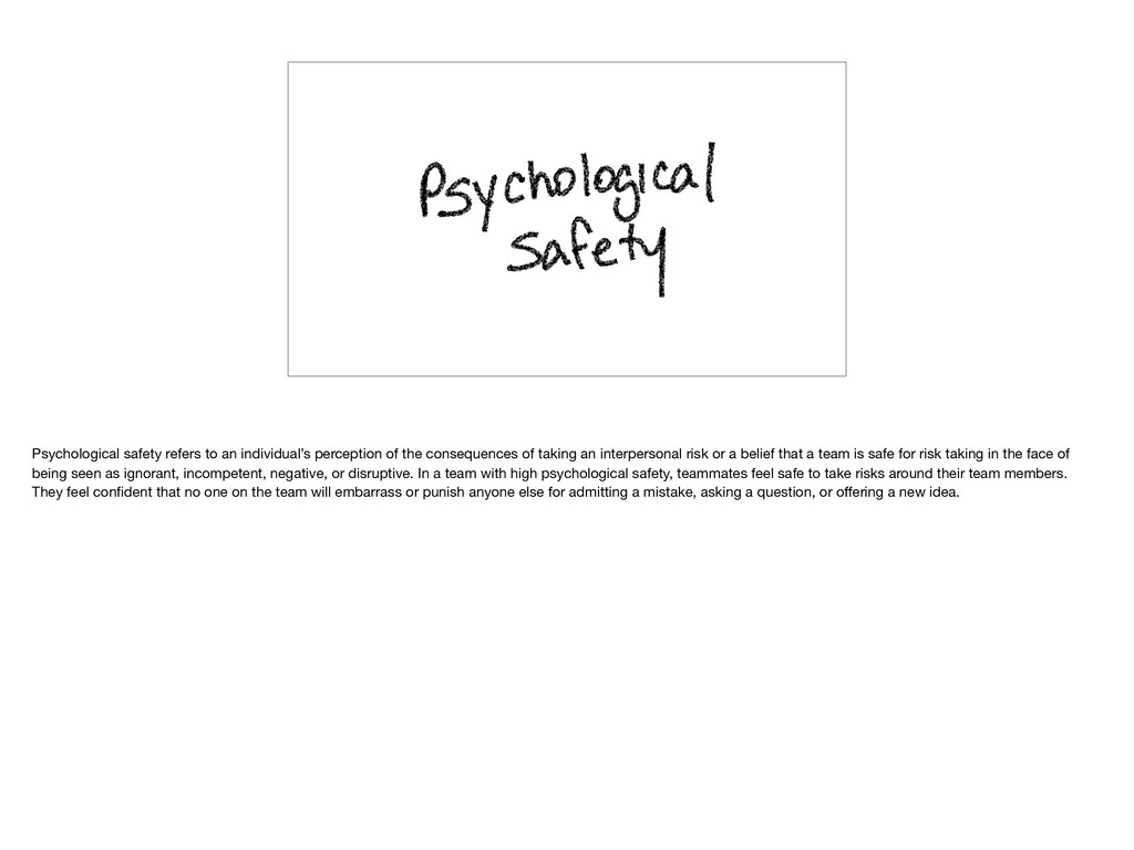 Psychological safety refers to an individual's ...