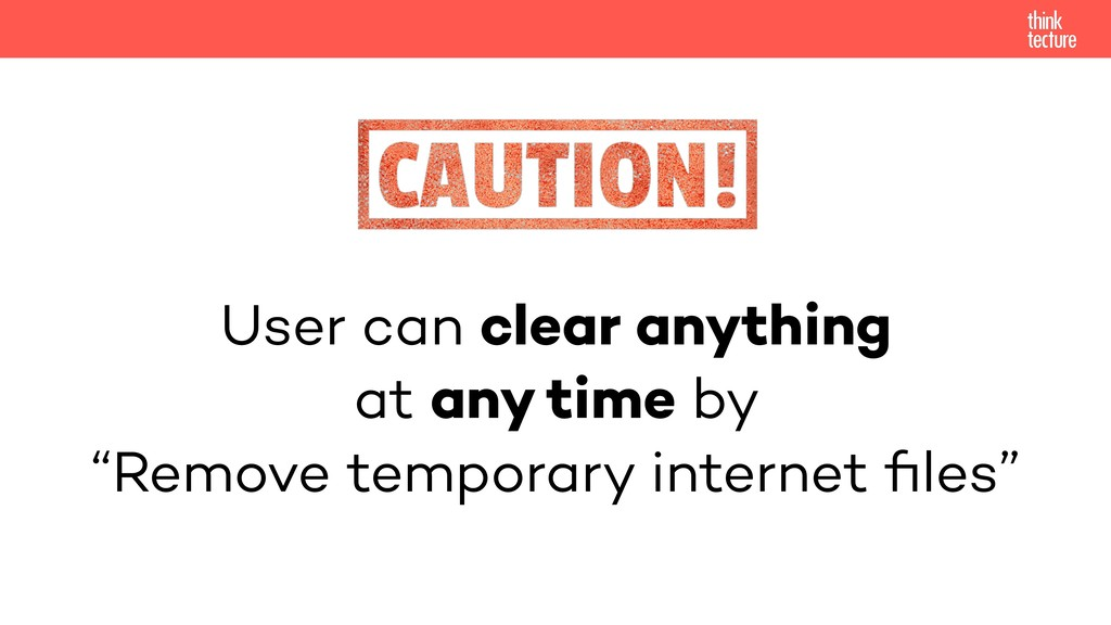 "User can clear anything at any time by ""Remove ..."