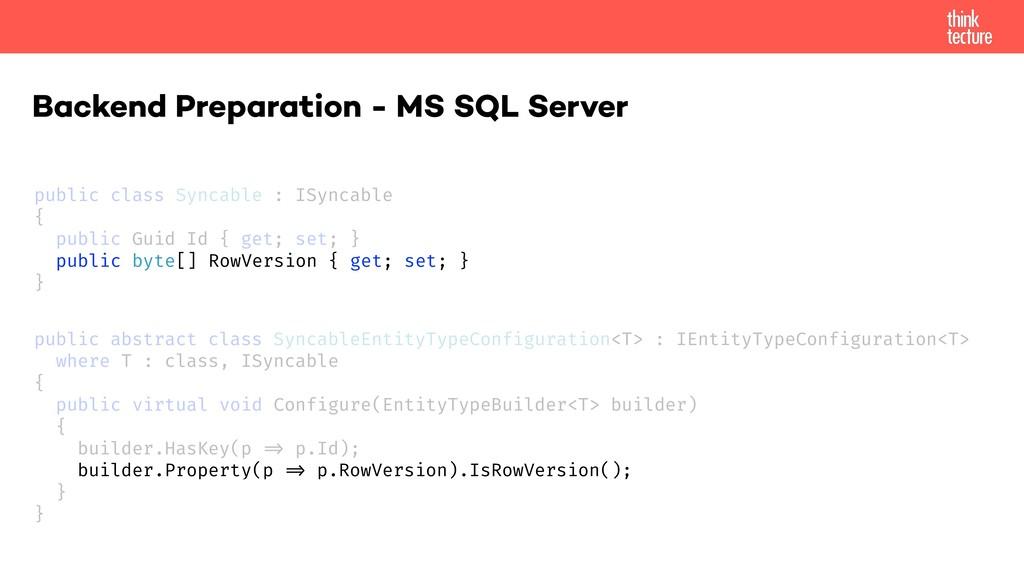 Backend Preparation - MS SQL Server public clas...