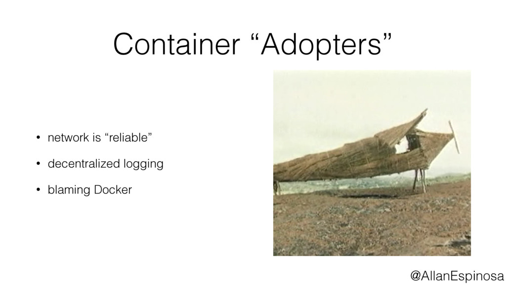 """@AllanEspinosa Container """"Adopters"""" • network i..."""