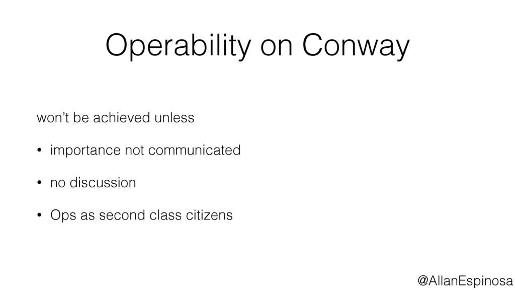 @AllanEspinosa Operability on Conway won't be a...