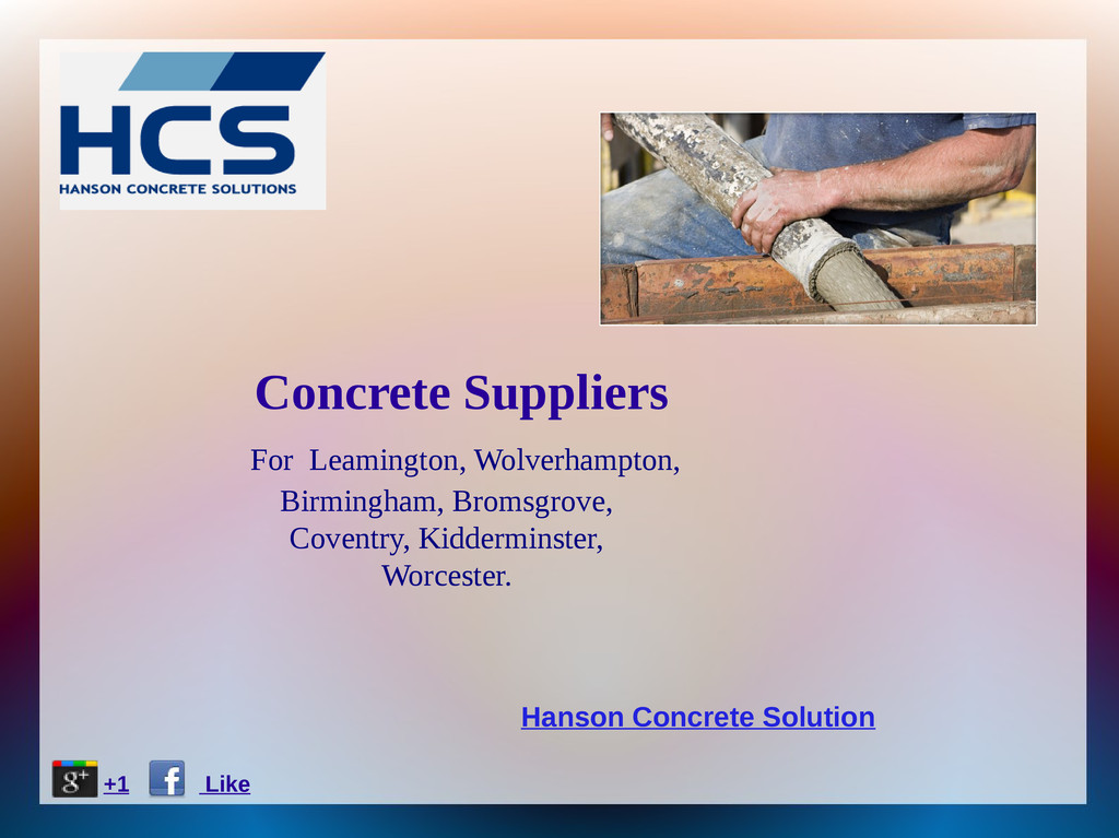 Concrete Suppliers For Leamington, Wolverhampto...