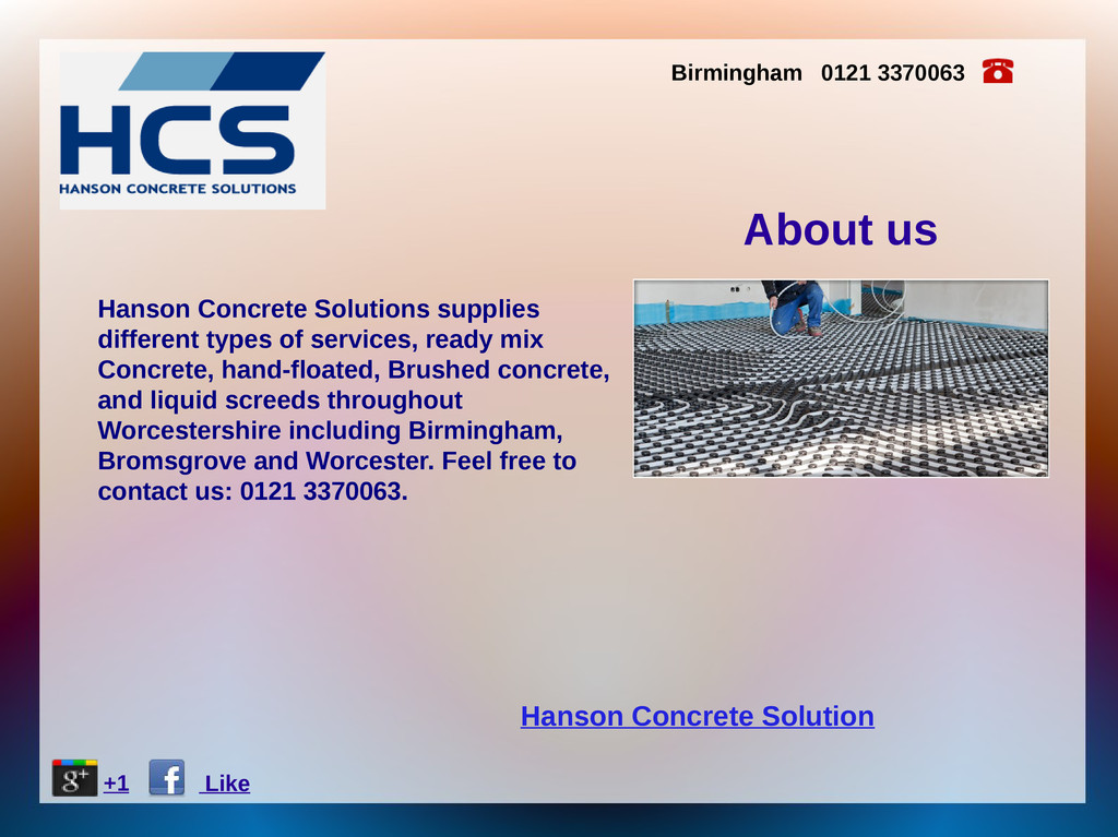 Hanson Concrete Solution About us Hanson Concre...