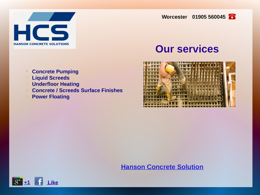 Hanson Concrete Solution Worcester 01905 560045...