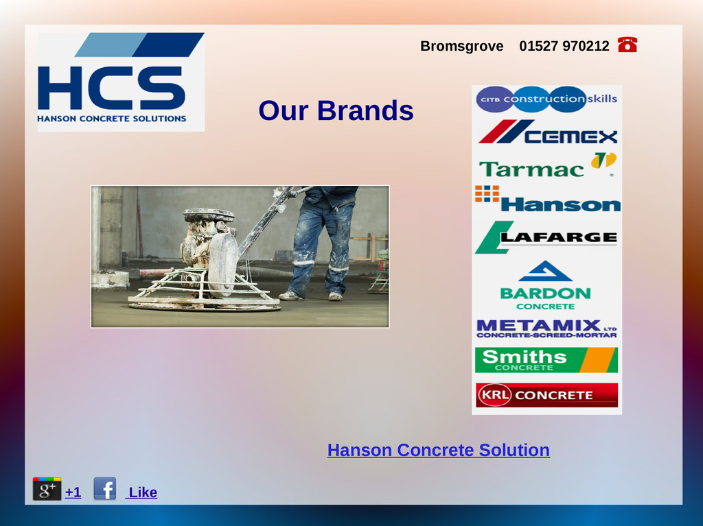 Hanson Concrete Solution Bromsgrove 01527 97021...