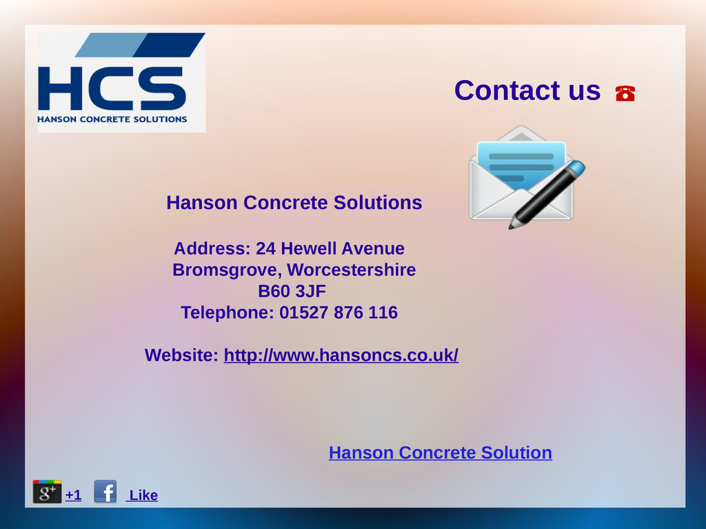 Hanson Concrete Solution Contact us Hanson Conc...