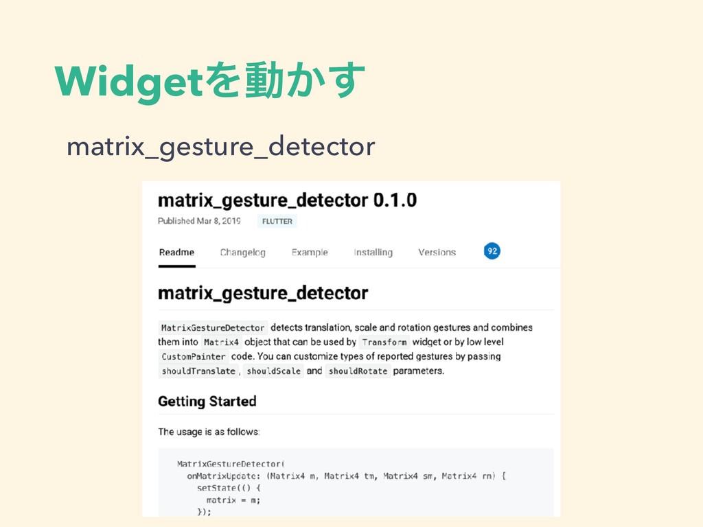 WidgetΛಈ͔͢ matrix_gesture_detector