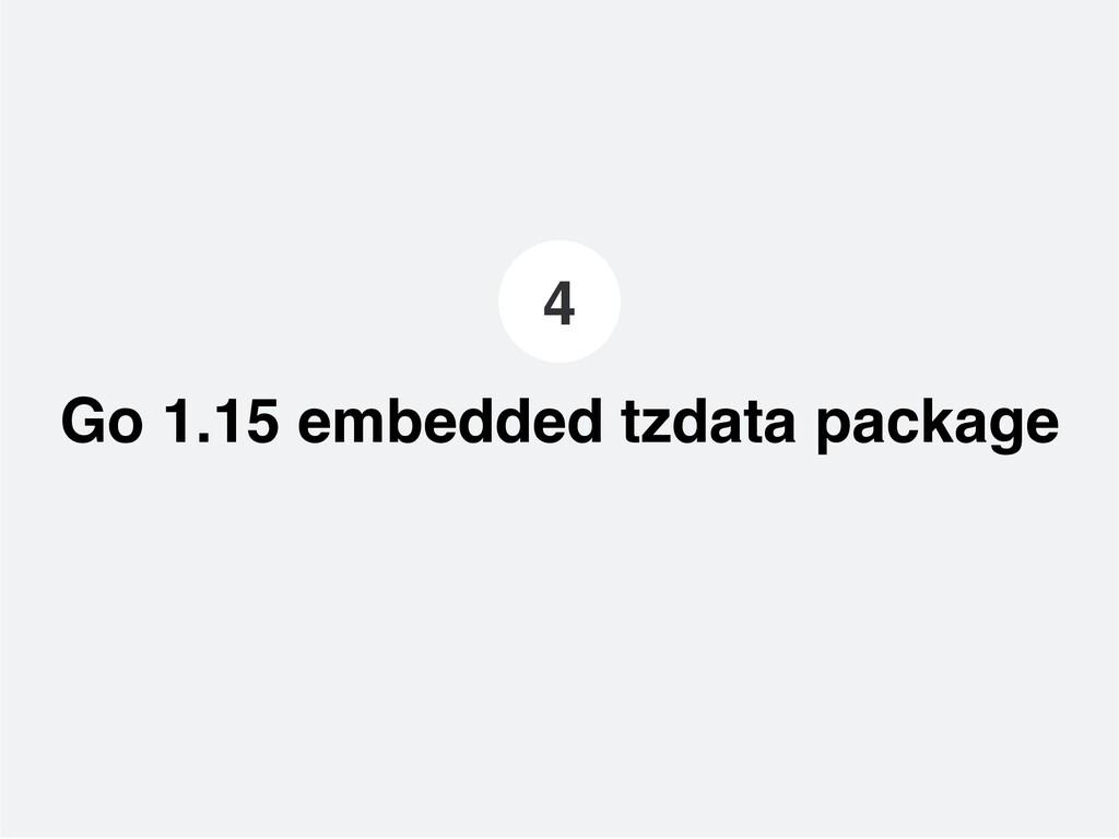Go 1.15 embedded tzdata package 4