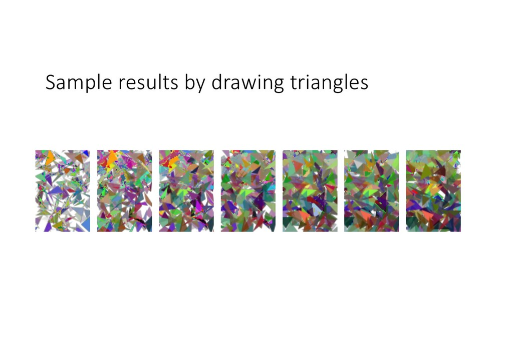 Sample results by drawing triangles