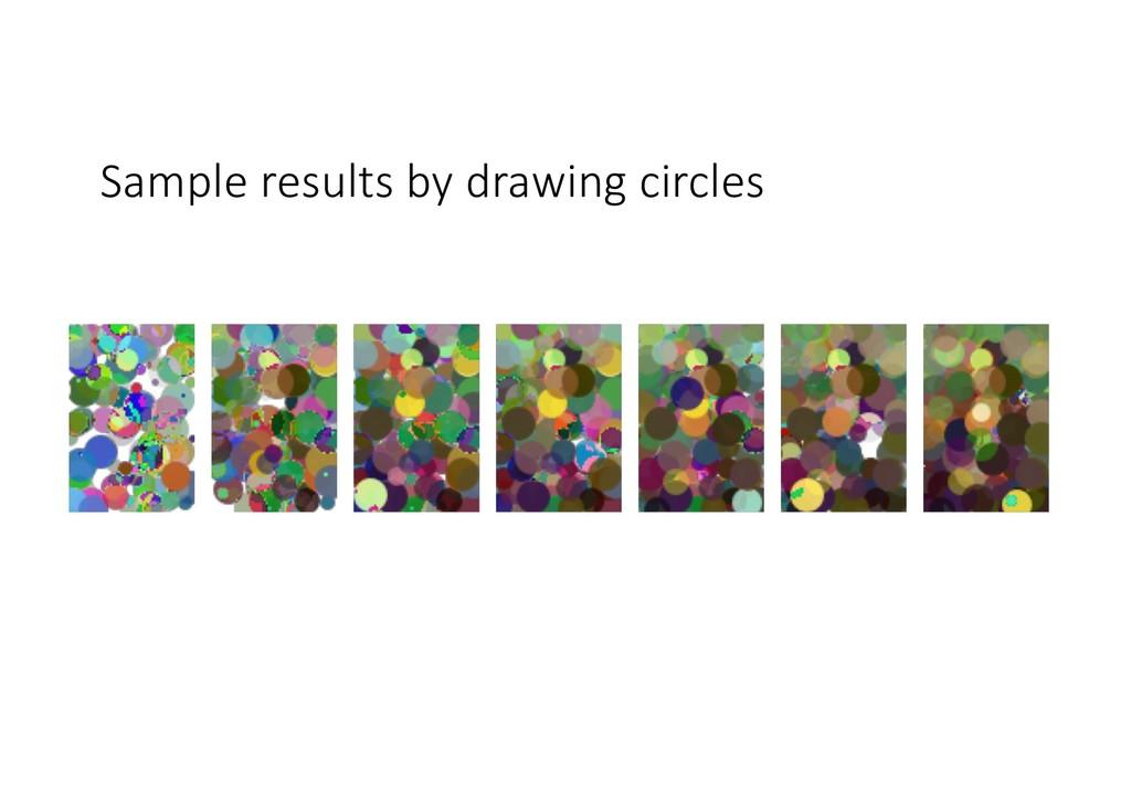 Sample results by drawing circles