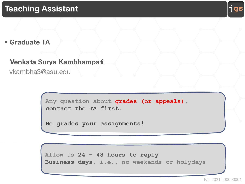 jgs About CSE 564 Topics, activities, grading, ...