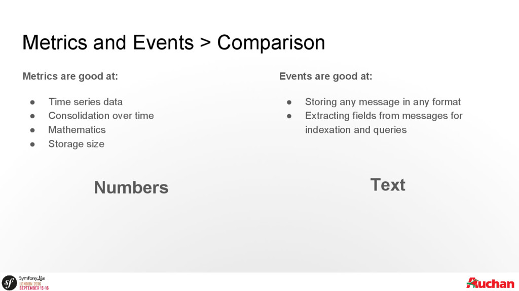 Metrics and Events > Comparison Metrics are goo...