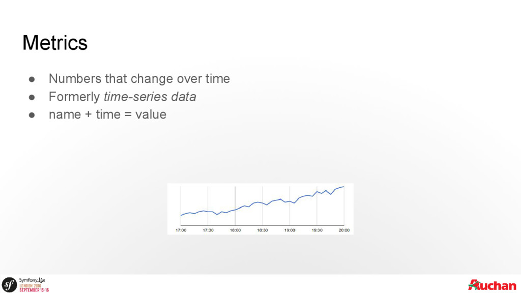 Metrics ● Numbers that change over time ● Forme...