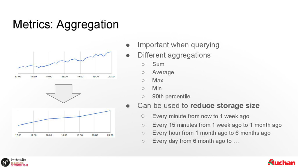 Metrics: Aggregation ● Important when querying ...