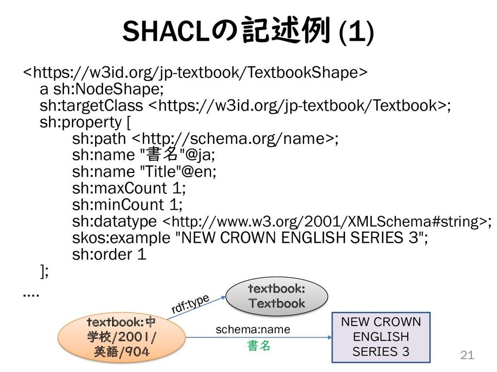 SHACLの記述例 (1) <https://w3id.org/jp-textbook/Tex...