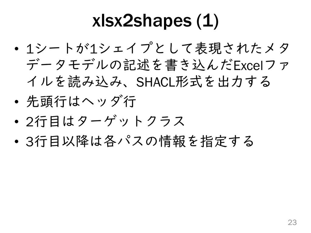 xlsx2shapes (1) • 1シートが1シェイプとして表現されたメタ データモデルの記...